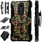 For Apple / LG Phone Case Holster Kick Stand Cover CAMO OAK BROWN Lux Guard