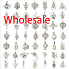 62 Style Wholesale Pearl Cage Locket Vintage Aromatherapy Pendant Jewelry Oyster image