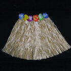 Kids & Adult Hawaiian Hula Grass Skirt Flower Wristband Party Beach Dress
