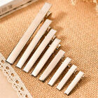 20pcs New Silver Metal Single Prong Alligator Hair Clips Bar