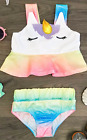 Внешний вид - 2 pc Unicorn Bathing Suit swimsuit girl's size 12-24m 2 3 4 5 6 7 8 9 rcf