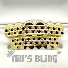 Iced out 14k Gold GRILLZ Checkered CZ Bling Tooth Mouth Teeth Cap Hip Hop Grills