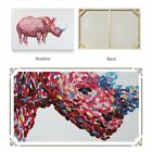 Hand-painted Modern Art Wall Decor Abstract Oil Painting on Canvas Rhinoceros QE