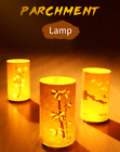 Parchment LED Creative Retro Lamp Infrared Remote Control USB Charging