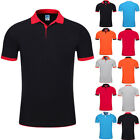 Mens Classic Short Sleeve Summer Golf Polo Shirts Plain T-Shirt 5 Colors M-3XL