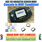 Kyпить Nintendo Game Boy Advance GBA Black System AGS 101 Backlit Mod RECHARGEABLE! на еВаy.соm