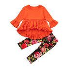 Lively Toddler Baby Girl Long Sleeve Tops T-shirt+Floral Pan