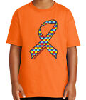 Autism Awareness Kid's T-shirt The puzzle ribbon  Tee for Youth - 2084C