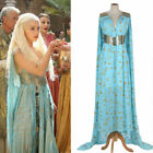 Mother of Dragons Game of Thrones Daenerys Targaryen Costume Long Cosplay Dress for sale  USA