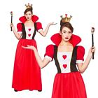 Womens Book Week Day Queen Of Hearts Wonderland Fancy Dress Costume Outfit Crown