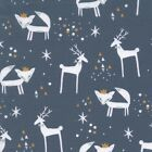 MODERN CHRISTMAS 18 - CRITTERS TREES STARS fabric SCANDI HYGGE STAG