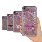 PERSONALISED SWEET NAME HEART 0N REAL LIQUID GLITTER GEL PHONE CASE FOR IPHONE