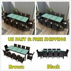 Outdoor Garden Dining Set 21pcs Poly Rattan Table Chair Patio Furniture Decorate