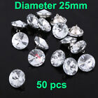100 Pcs  DIY Diamond Crystal Buttons Upholstery Sofa Decoration Sew Buttons US