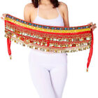Belly Dancing Hip Scarf Indian Dance Belt Performance CoinsBeads Velvet 10 Colo
