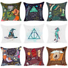Hot Sale Cartoon Harry Potter Cushion Cover Pillow Case Home Family Decor