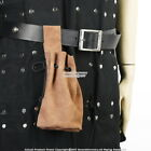 Внешний вид - Medieval Suede Leather Drawstring Belt Pouch Bag Renaissance Faire LARP Costume