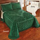 Royalty Elegant Chenille Bedspread in Emerald. Twin, Queen, King image