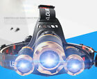 Led Super Bright Headlight 3 Light Zooming Headlamp Rechargeable Flashllight Hot