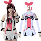 A.I.Channel Anchor Kizuna AI White Uniform Suit Outfit Cosplay Costume Full Set