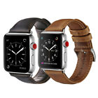 38/42mm Retro Genuine Leather iWatch Band Men Casual Strap F