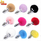 Adult Sexy Fluffy Fur Rabbit Tail Plug Cosplay Stopper Butt Toy Adult Game US