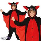 Child Boy Girl Vampire Red Bat Animal Halloween Fancy Dress Costume Outfit Wings
