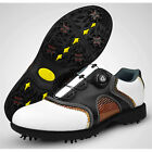 Men's Golf Shoes Rubber Golf, Wearable, Breathable Nappa Leather  Cowhide