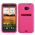 For HTC EVO 4G LTE Silicone Skin Rubber Soft Case Phone Cover
