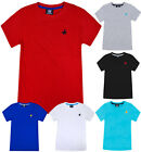 Boys T-shirt Kids Horse Embroidered Cotton Top Age 2 3 4 5 6 7 8 9 10 11 12 13 Y