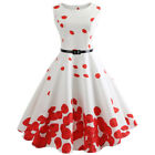 Beauty Ladies Vintage Rockabilly Floral Bodycon Evening Party Prom Swing Dress