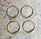 .925 Sterling Silver Gold Plated 22g Endless Rings Nose Hoops Ear Piercing LOT image