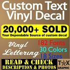 Personalized Decal Customized Clear Sticker Vinyl Lettering