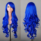 Womens Lady Long Hair Wig Curly Wavy Synthetic Anime Cosplay Party Full Wigs US