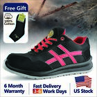 Safetoe Safety Shoes Mens Work Lace up Lightweight Anti static Steel Toe Boots