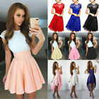 Women Lace Short Dress Cocktail Party Evening Formal Ball Gown Prom Mini Dresses $12.99 USD on eBay