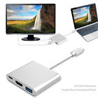 3in1 Type C to HDMI TV Video Converter USB 3.0 HUB Charge Adapter For Macbook