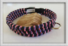 Paracord Dog Collar adjustable Quick Release Buckle US 550lbs 7Strand YOU CHOOSE