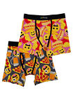 Mens 2-Pack Hot Dogs Pizza & Beer Emoji Boxer Briefs Boxers
