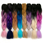 HOT 1-3 Bundles Jumbo Braiding Braid Hair Extensions Ombre K