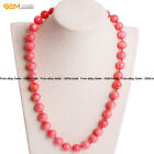 """Pink Orange Red Coral Beads Beaded Jewelry Necklaces 18"""" Dyed Christmas Gift GI image"""