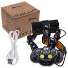 Lampe Frontale 90000LM XM-L T6 LED USB Rechargeable Headlight Torche 8 Modes