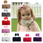 Cute 1 Set Hair Clip+Scarf Newborn Baby Girl Kids Headband B
