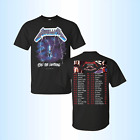 METALLICA Concerts tour 2018 – 2019 U.S. 2 side T-shirt full size tee image