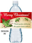 20 CHRISTMAS PARTY FAVORS WATER BOTTLE LABELS