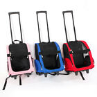 Soft Cat Carrier Pet Carrier Dog Rolling Backpack Travel Outdoors Wheel Luggage