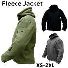 Men Outdoor Tactical Fleece Jacket Winter Hooded Coat Hiking Camping Outwears