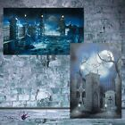 Halloween Graveyard Scene Setter Backdrop Party Wall Banner Poster 2m Decoration