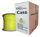 550MHZ CAT6 PLENUM CABLE 1000ft White Red Yellow