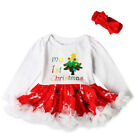 MY 1st Christmas Baby Girls Clothes Outfits Romper Bodysuit Jumpsuit Xmas Lots
